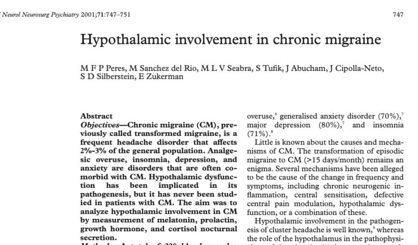 Hypothalamus Chronic Migraine