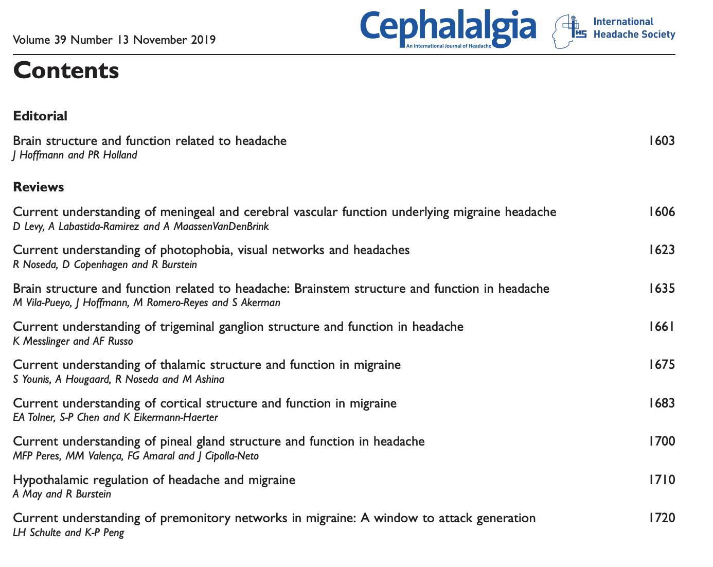 pineal gland cephalalgia