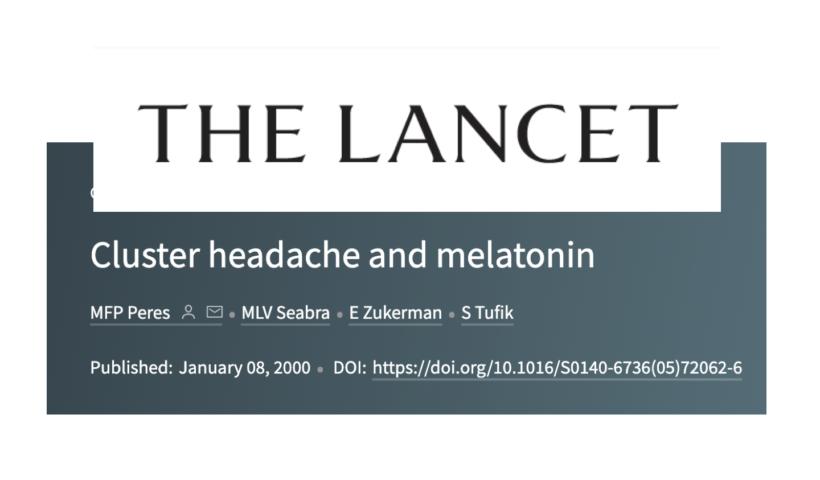cefaleia em salvas e melatonina