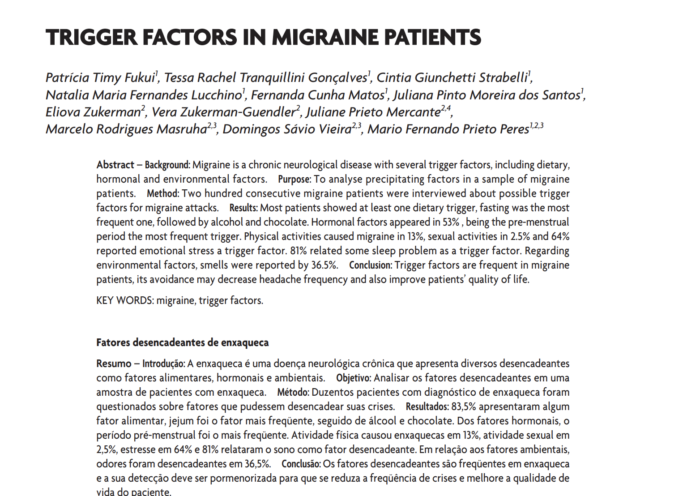 trigger factors migraine